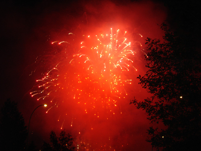 A sparkly red display of fireworks| All rights reserved by the image creator: Scott Kocil. Copyright 2006.