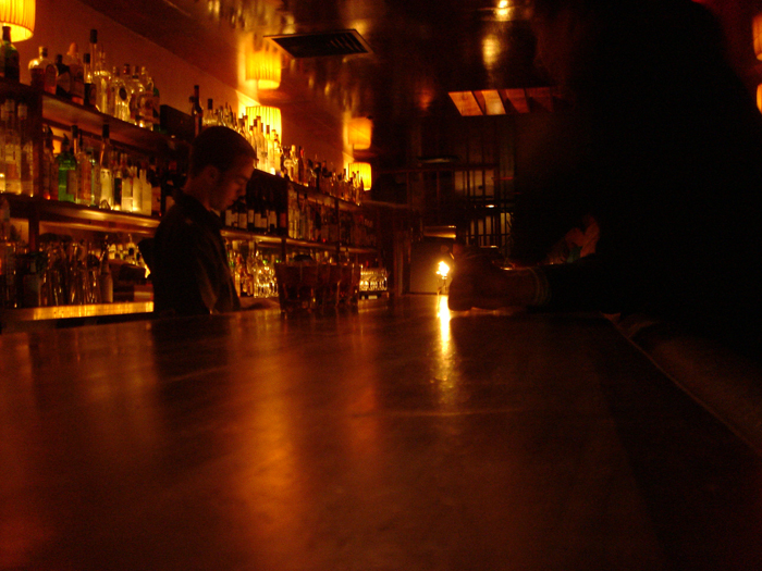 Golden image of a late night bar in Wellington | All rights reserved by the image creator: Andrew McLeod. Copyright 2006.